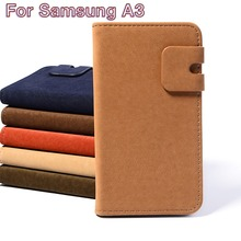 Unique Wallet Design Mobile Phone Holster For Samsung Galaxy A3 2014 A3000 A300F Phone Case Luxury Flip Leather Protective Shell