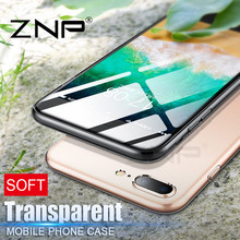 Buy ZNP Transparent Case iphone 8 8 plus Ultra Thin Clear Soft TPU Silicone Cases Cover iphone 8 8plus Case Coque Fundas p30 for $3.75 in AliExpress store