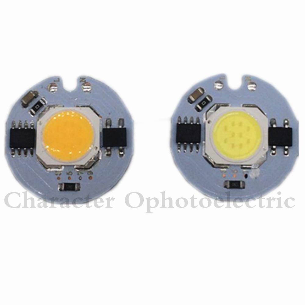 10PCS COB LED Lamp Chip 3W 5W 7W 9W LED COB Bulb Lamp 220V IP65 Smart IC Driver Cold/ Warm White LED Spotlight Floodlight