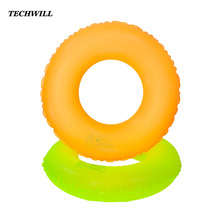 Fluorescent color Adult Kids Swimming Ring Single-layer Inflatable Swimming Circle Life Buoy Swmming Equipment Common Ring Float(China)