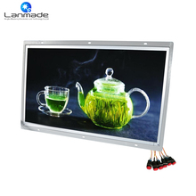 21.5 inch Open Frame LED Screens 3.5mm Earphone Push Button HD USB Board totem led Advertising Digital Signage screens(China)