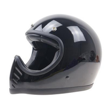 THH serials Fiber glass Full Face motorcycle helmet Retro motorcycle helmet DD ring buckle Leather cover helmet(China)