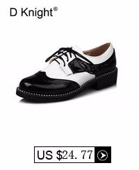 Fashion England Style Color Block Oxfords For Women New Ladies Casual Lace Up Brogue Oxford Shoes Women Flat Shoes Size 34-43