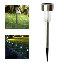50pcs/lot RGB / White Solar tube light lawn lamp stainless steel courtyard lamp LED solar lamp(China)