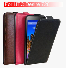 ( Factory Outlets )  High Quality Fashion Luxury Flip With TPU Leather Case Cover For HTC Desire 728 728G Dual Sim