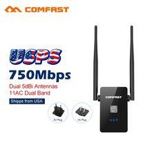 Comfast Dual Band 750Mbps Wifi Repeaters Roteador 802.11AC Wireless Router 2.4+5GHz CF-WR750 V2 AC Wi fi Signa Extend Amplifier(China)