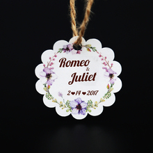 Custom tag Personalized Hang Gift Tag With Name For Wedding and Bridal Shower or Baby Shower Favor(China)