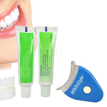 1 Set White Light LED Teeth Whitening Tooth Gel Whitener Health Oral Care Toothpaste Kit For Personal Dental/Mouth Care Healthy