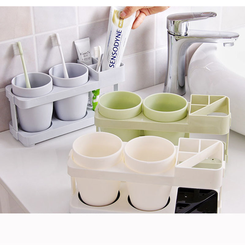 Creative Mouthwash Cup Bathroom Suite Bathroom Teeth Seat Couple Brush Tooth Cup Toothpaste Tooth Cylinder Frame Combination(China (Mainland))