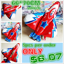 5pcs/lot large fighting plane model Balloons aluminum foil balloon helium globos festival party baloon birthday party supplies(China)