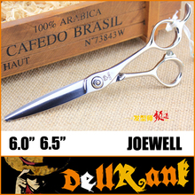 "Japan Original ""JOEWELL"" Scissors 6.5 Professional Barber Hairdressing Salon Scissors 440C High Quality Hair Cutting Shears J-5(China)"