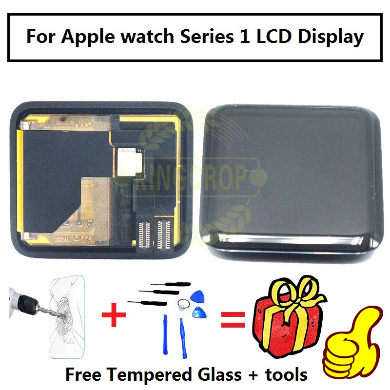 Original For Apple watch Series 1 LCD Display Touch Screen Panel Digitizer Assembly 38mm 42mm Replacement Parts+Adhesive+tools(China (Mainland))