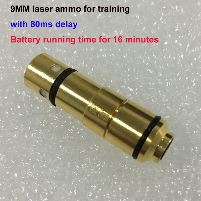 9mm, 380 ACP, 40 S&amp;W (80ms delay) laser Ammo Bullet Laser Cartridge for Dry Fire Training Shooting Simulation<br>