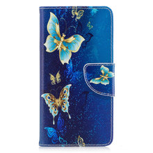 3D painting Flip Case For Huawei Y5 ll PU Leather+Soft Silicon Wallet Cover For Coque Huawei Y5 ll Case Phone