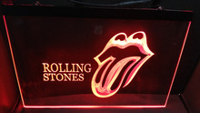 b-327 R.S The Rolling Stones Music Band VIP Led Light Room Bar Studio Decor Neon Sign(China)