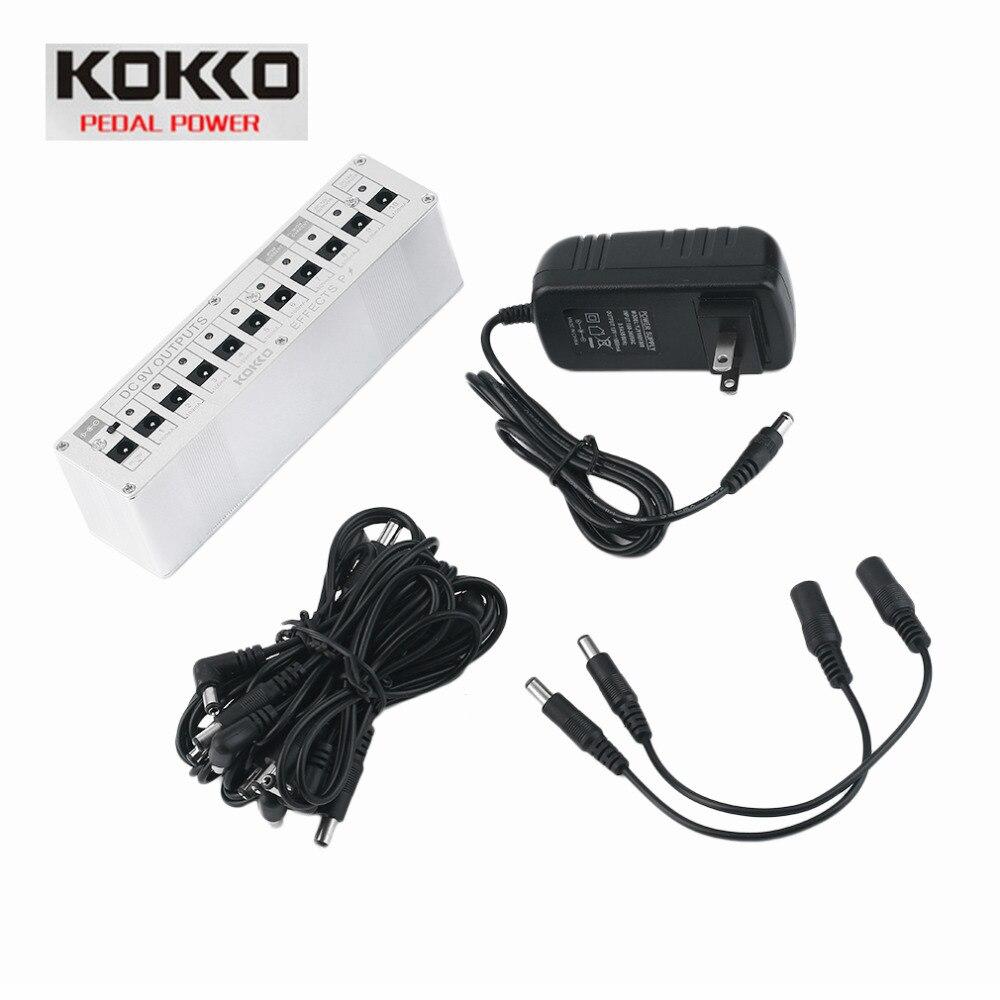 KOKKO 10 Isolate Output DC 9V 12V 18V Guitar Pedal Effect Power Supply Adapter Aluminum Alloy Guitar Musical Equipment Accessory<br>