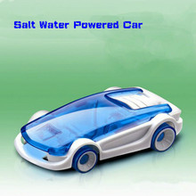 Novelty DIY Assembled Kid's Educational Toy Green Energy Toy Salt Water Powered Car Eco-Friendly Brine Power Car Gift