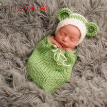 Newborn Costume Photography Props Handmade Crochet Baby Photo Shoot Clothes for 0-6 Months 1 Set Fotografia Costume Knit Baby