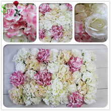 Free Shipping 10pcs/lot high quality Artificial rose flower wall backdrop arch wedding ideas flower market home decoration
