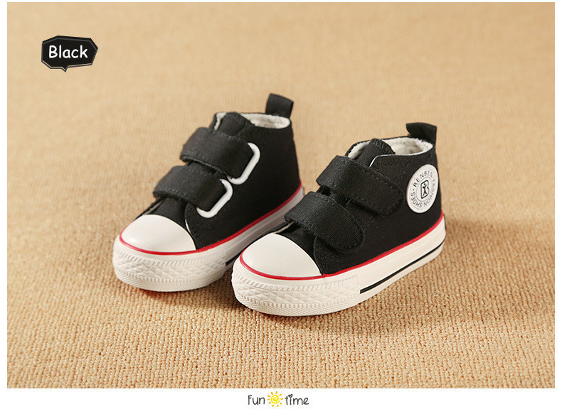 Baby shoes Girl Children Canvas shoes Boys 17 Spring Autumn Fashion High Cotton-made Baby girl little kids shoes 21