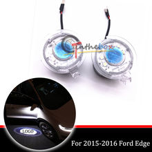 2 Side Rear View Mirror Puddle Laser Ghost Shadow Lights for 2015-2016 Ford Edge