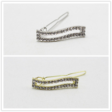 1pc Cute Korean Style Rhinestone Hairpins Elegant Unique Hair Pin Women Brides Vintage Bridal Hair Jewelry Accessories 1704-1(China)