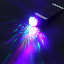 Mini RGB LED Stage Light LED Disco Ball 4 LED USB Powered Stage DiscoBall Effect RGB Bulb Lamp for KTV DJ Party Effect Show Lamp(China)