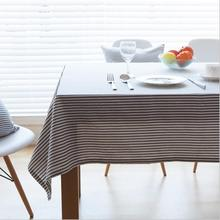 New Arrival Table Cloth Simple Striped Art High Quality Cotton Universal Tablecloth Decorative Table Cover Hot Sale