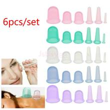 6Pcs 4 Sizes Silicone Cupping Set Face Eye Back Legs Full Body Massage Vacuum Cups Anti Cellulite, Anti-aging, Wrinkle Reducer(China)