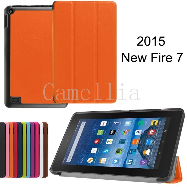 100Pcs/lot Ultra Lightweight Slim-shell Stand Cover For Amazon Fire 7 Tablet (5th Generation, 2015 Release Only)<br><br>Aliexpress