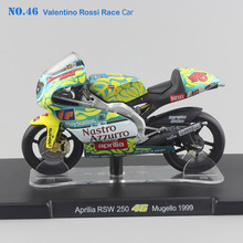 kids 1/18 scale Leo No.46 Rossi Moto GP Race Aprilia RS 125 Mugello 1999 Motorcycle die cast model collectile gift toys for boys