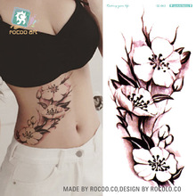 20 designs Waterproof Temporary Tattoo Sticker China ink flower rose peony tatto stickers flash tatoo fake tattoos for women