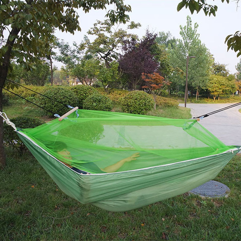Polyester Camping Double Hammock Tent Durable Hammocks Like Parachute for Traveling Bushwalking Outdoors Hammock Defend The Gnat<br>