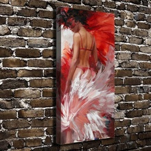 A1458 Sexy Girl Naked Devil Figures Scenery. HD Canvas Print Home decoration Living Room bedroom Wall pictures Art painting
