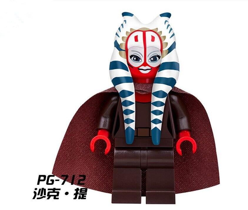 50pcs/lot PG712 Shaak Ti Jedi Council Star War Togruta DIY Dolls Action Figure Building Blocks Kids Gifts Toys PG8051<br>