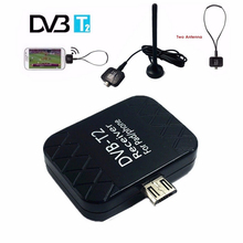 1pcs Mini Micro USB DVB-T Dongle Antenna USB Digital TV Tuner Receiver For Mobile Phone Android 4.0-6.0(China)