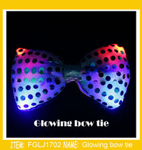 50pcs/lot Wedding Party Christmas Halloween  LED bow tie  Female/Male flashing dancing stage decoration Glowing tie light up toy