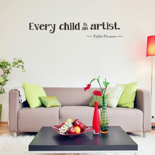 Every Child Is An Artist Wall Stickers Vinyl Removable Kids Bedroom Wall Decals