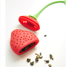 Silicone Strawberry Design Loose Tea Leaf Strainer Herbal Spice Infuser Filter Tools 01O9 2Y6D