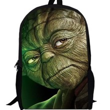 15inch Star Wars Backpack double layer custom made the force awaken School Bag Kid's Darth Vader Yoda Jedi pencil case movie men
