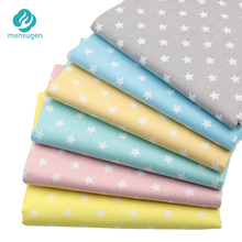 Mensugen 6pcs/lot 40cm*50cm Stars Serie 100% Cotton Fabric Patchwork Quilting Cloth DIY Handmade Tissue Baby Bed Sheet Material(China)