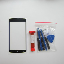 Front Outer Glass Lens Cover Replacement Parts For LG google Nexus 5 D820 D821 TouchScreen Protector & tools & uv glue(China)