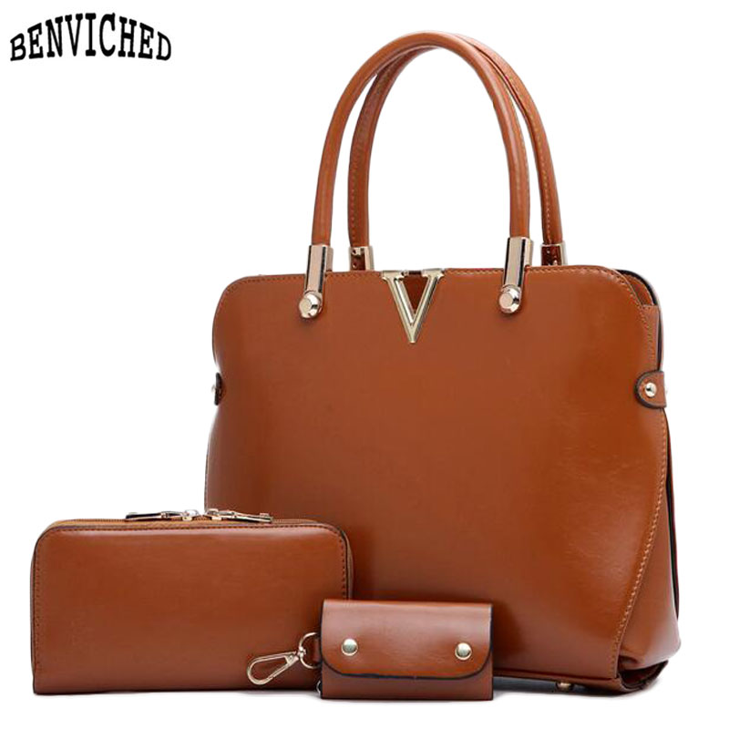 2017 Women Composite Bags Set Famous Designer Leather Handbags Fashion Women Shoulder Crossbody Bags Lady Day Clutch Tote Bolsas<br><br>Aliexpress