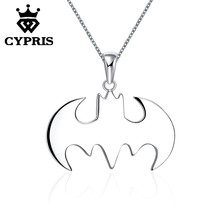 WHOLESALE BATMAN Fashion silver plated 18inch pendant film movie movie links necklace cute wholesale magic WOMEN LADY KID MEN(China)