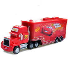 Disney Pixar Cars Toys No.95 Lightning McQueen Mack Truck 1:55 Scale Diecast Metal Alloy Model Toy For Children'S Gifts(China)