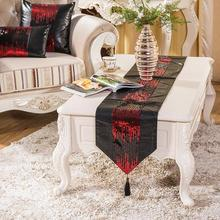 32cmX200cm Europe Style Patchwork PU+Sequins Table Runner Table Cloth For Wedding Dining Table Home Decorations Spring New(China)