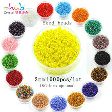 Wholesale Crystal Seed 2mm 5000pcs/lot Multi-colored for Choose Czech Glass Beads Interval Beaded Jewelry Making Loose Beading(China)
