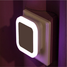 Newest LED Night Light With Control Auto Sensor Light For Home Indoor Art Lighting In White Yellow Blue Red AC110V 220V EU US(China)