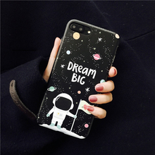"Space Man Astronaut ""Big Dream"" Phone Case for iPhone6s 6 Fundas for iPhone 7 7plus 6P 6splus Soft Original Case From Jenny(China)"