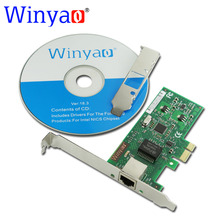 Winyao WY574T PCI-Express X1 10/100/1000Mbps RJ45 Gigabit Ethernet Network Card Server Adapter Nic For 82574 EXPI9301CT(China)